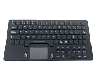 Compact Waterproof Keyboard USB Interface With Touchpad Mouse / Spanish Layout