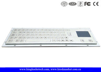 Flat Non-Protruding Short Travel Key Industrial Keyboard With Touchpad In Stainless Steel